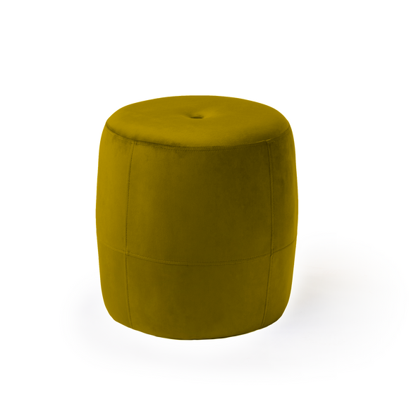 Galya Foot Stool - Velour Olive