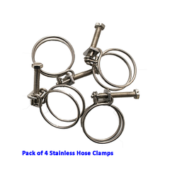 12mm Spiral Stainless Steel Pond Hose Clamp - Pk of 4
