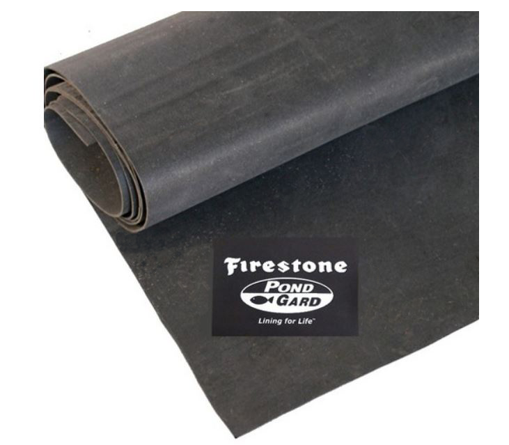 4.88m wide Firestone Pondgard EPDM Pond Liner 1.02mm - Cut to size/LMtr