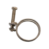 25mm Spiral Stainless Steel Pond Hose Clamp - Pk of 4