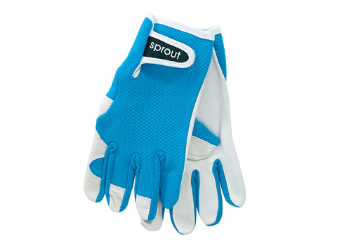 "Ladies Garden Gloves - Aqua ""Soft on the Skin"""