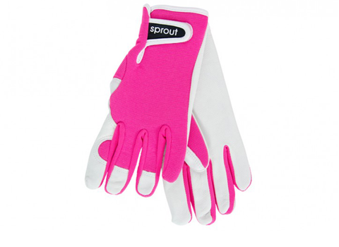 "Ladies Garden Gloves - Neon Pink ""Soft on the Skin"""