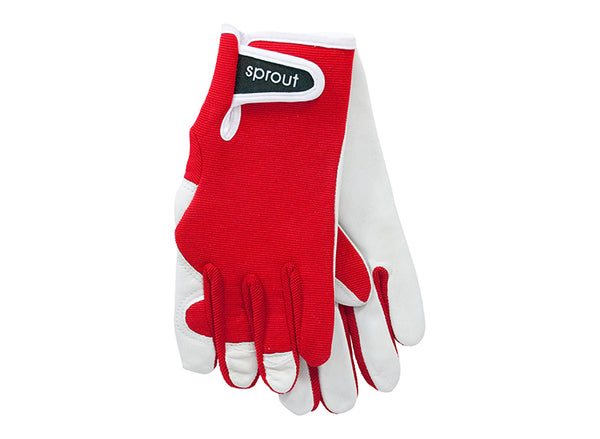 "Ladies Garden Gloves - Red ""Soft on the Skin"""