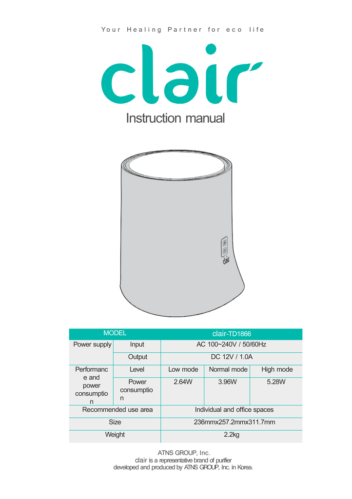 Clair TD1866 Specs and cover