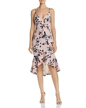 Floral Print Flounced-Hem Dress