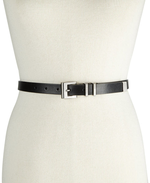 Dkny Double-Keeper Pant Belt - BLACK