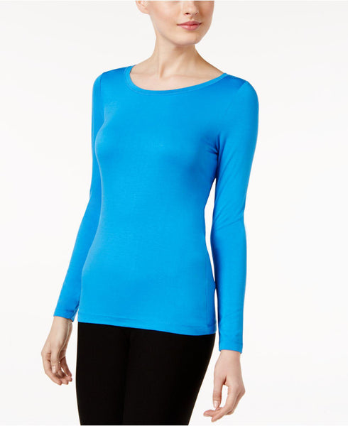 CABLE & GAUGE WOMEN'S SLEEVE KNIT TOP FRENCH BLUE