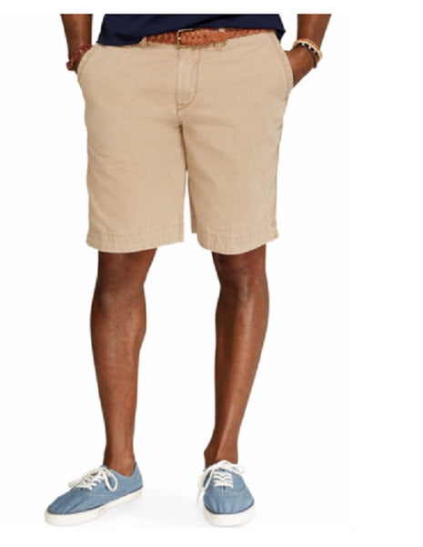 Polo Ralph Lauren® Big and Tall Montana Khaki Flat Front Shorts