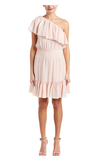 Rebecca Taylor Pink One Shoulder Dress