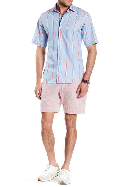 TailorByrd Men's Red Stripe Shorts