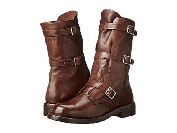 Alexander McQueen Leather Buckle Women's Boots