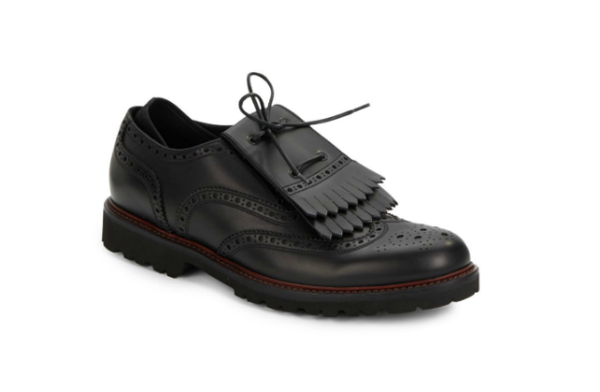 Emporio Armani Men's Black Leather Loafers