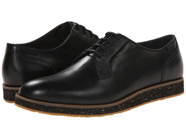 Camper Black Leather Mens Shoes