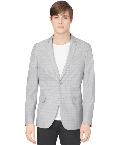 Calvin Klein Men's Grey Deconstructed Blazer