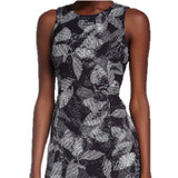 Rebecca Taylor Women's Black Print Sheath Dress