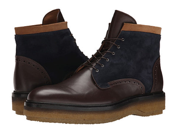 ETRO Men's Brown Leather/Suede Ankle Boots
