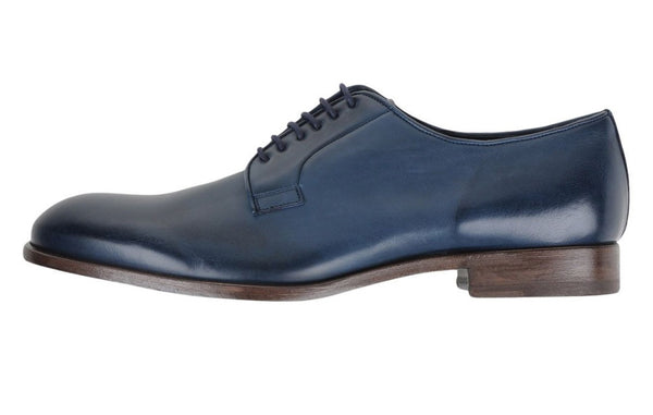 Fratelli Rossetti Men's Jade Blue Leather Oxfords