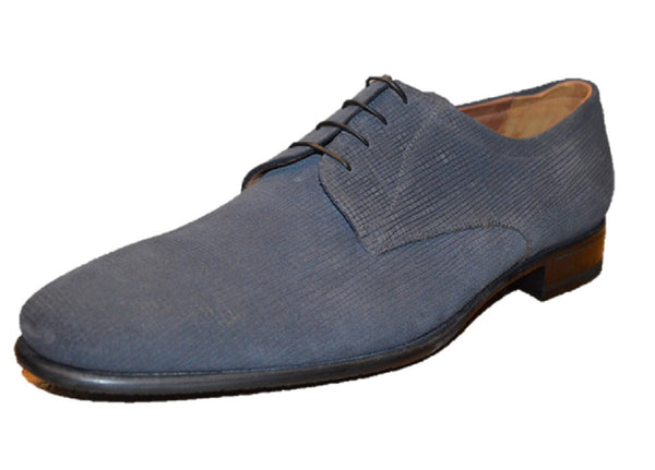 a.Testoni Grey Suede Men's Oxfords