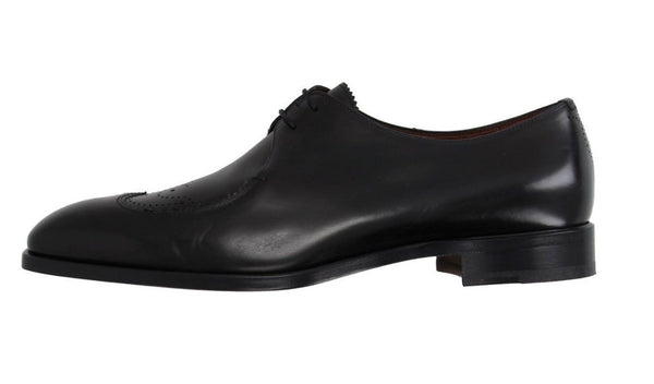 Fratelli Rossetti Men's Black Leather Wingtip Oxfords