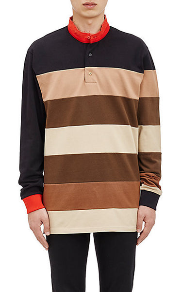 Givenchy Multicolor Columbian Long-sleeve Polo Shirt