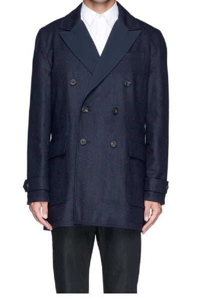 Hardy Amies Men's Reversible Navy Coat