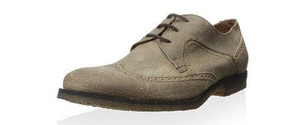 John Varvatos Rye Distressed Leather Wingtip Oxfords