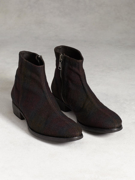 John Varvatos Men's Plaid Wool Ankle Boots