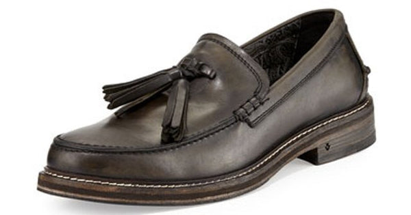 John Varvatos Old Bark Tassel Leather Loafer