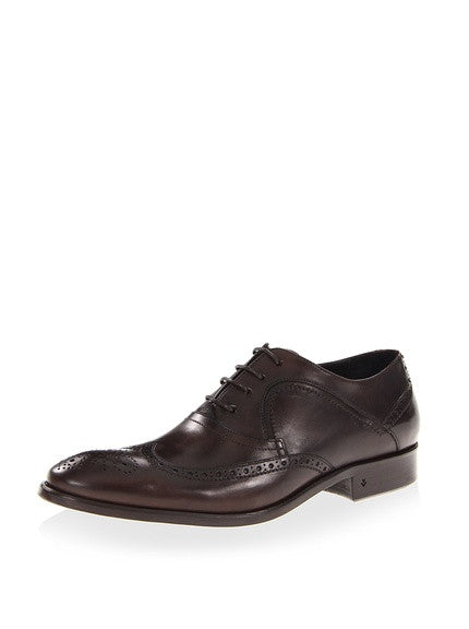 John Varvatos Brown Leather Oxfords