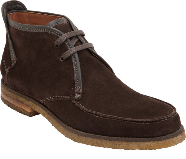 John Varvatos Men's Brown Suede Leather Ankle Boots