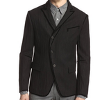 John Varvatos Collection Black Wool Blend Mens Blazer