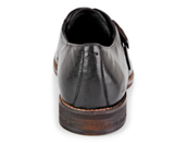 Kenneth Cole New York Black Leather Monk-Strap Shoes