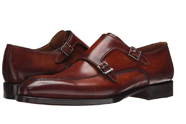 Magnanni Cognac Monkstrap Men's Oxfords