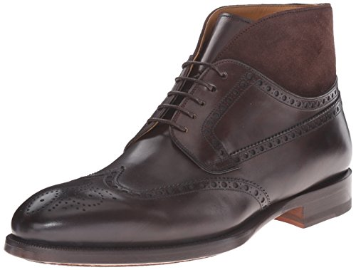 Magnanni Men's Dark Brown Leather Boots