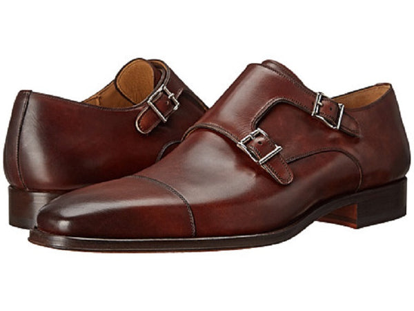 Magnanni Brown Double Monk Strap Men's Oxfords