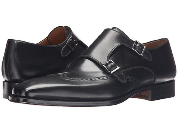 Magnanni Men's Black Monkstrap Shoes