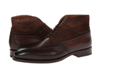 Magnanni Brown Textured Leather Wingtip Lace-up Men's Boots