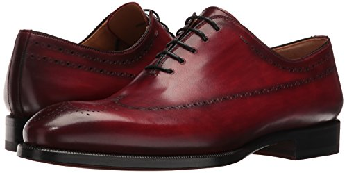 Magnanni Men's Stone Red Leather Shoes