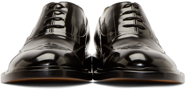 Maison Martin Margiela Black Leather Men's Shoes