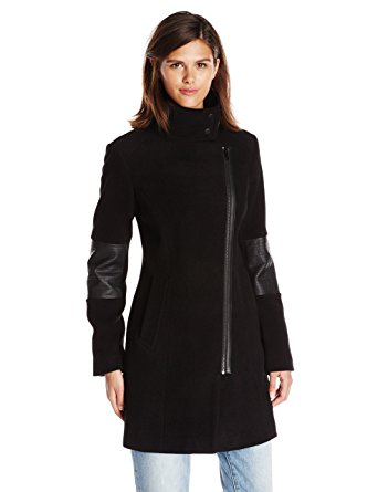 Marc New York by Andrew Marc Women's Black Moto Coat