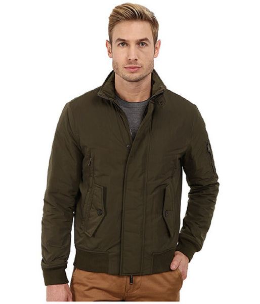 Michael Kors Men's Green Water Resistant Bomber Jacket, XL