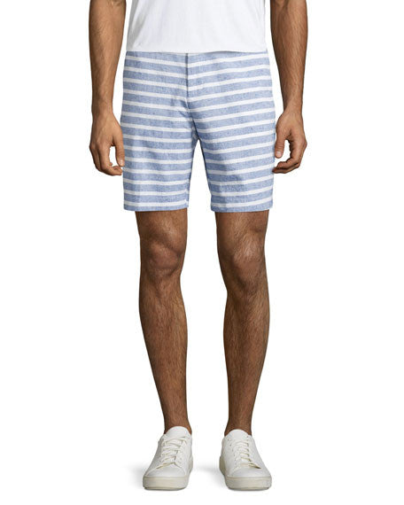 Michael Kors Men's Navy Sailor-Stripe Cotton Shorts