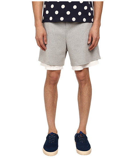 Mark McNairy Men's Grey Heather Layered Hem Shorts
