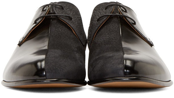 Maison Margiela Black Multi-Fabric Leather Men's Shoes