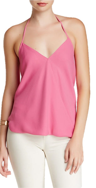 Bishop + Young Women's Pink Halter Blouse