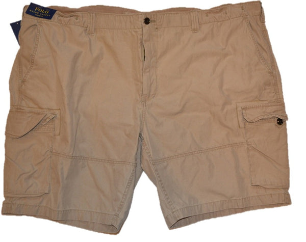 Polo Ralph Lauren Men's Big and Tall Khaki Cargo Shorts