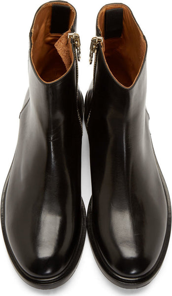 2ff0483b49c6 Paul Smith Black Italian Leather Zipper Mens Boots – Solesational