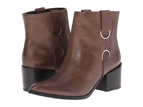 Rachel Zoe Women's Brown Calf Leather Ankle Boots