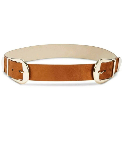 International Concepts Double-Buckle Cognac belt