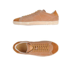 Santoni Tan Leather Mens Lo Sneakers